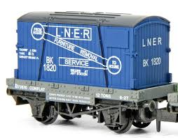 Peco NR-23 LNER Conflat with Furniture Container